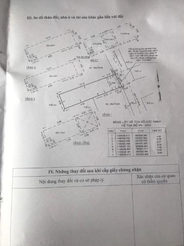 Bản vẻ nhà phố Quận Gò Vấp Nhà phố diện tích đất 62.9m2, hướng Đông Nam, sổ hồng riêng
