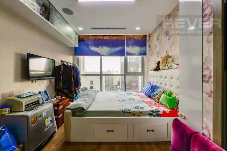 Phòng ngủ 1 Căn hộ Vinhomes Central Park tầng thấp. Park 6, 2 phòng ngủ, full nội thất