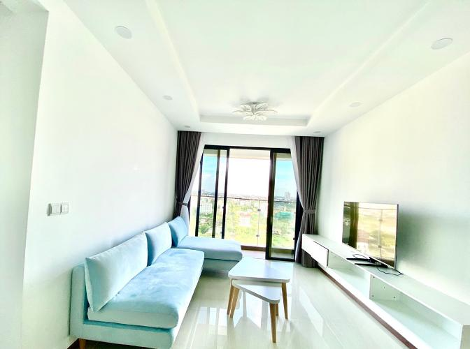 Phòng khách căn hộ One Verandah, Quận 2 Căn hộ One Verandah tầng 12 view thành phố, view sông thoáng mát.