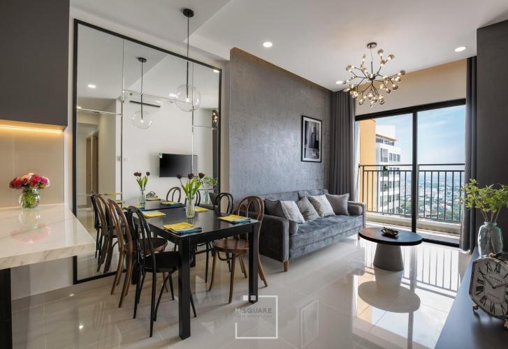 Phòng khách The Sun Avenue Căn hộ The Sun Avenue tầng cao, kèm đầy đủ nội thất.