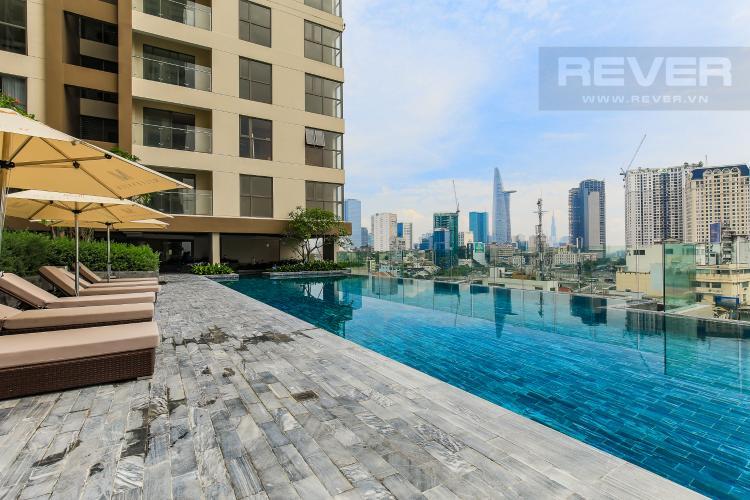 Hồ Bơi Cho thuê căn hộ Masteri Millennium tầng cao, 2PN đầy đủ nội thất view sông