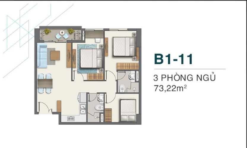 Bán căn hộ tầng thấp - Q7 Boulevard, 3 phòng ngủ, diện tích 73.2m2, nội thất cơ bản, ban công hướng Bắc.
