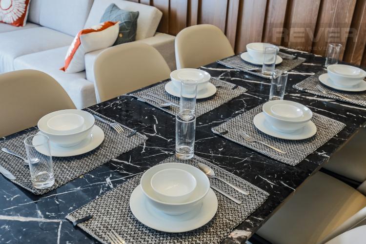 Bàn Ăn Căn hộ Masteri Millennium tầng cao 3PN đầy đủ nội thất