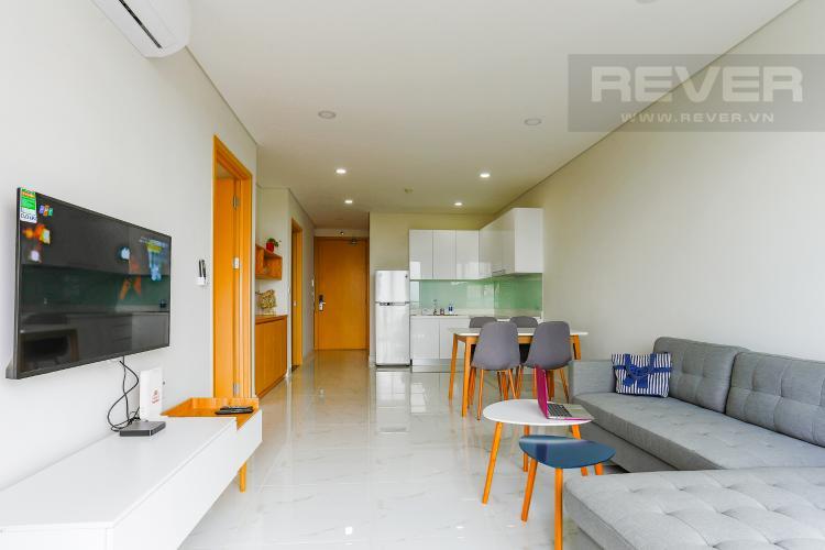 Phòng Khách Căn hộ An gia Skyline 2 phòng ngủ tầng thấp nội thất đầy đủ