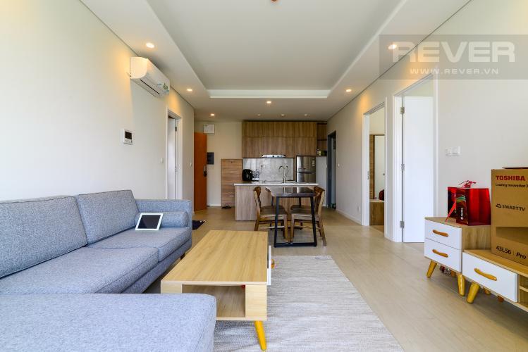 Phòng Khách Cho thuê căn hộ Diamond Island - Đảo Kim Cương 2 phòng ngủ, view sông thoáng đãng