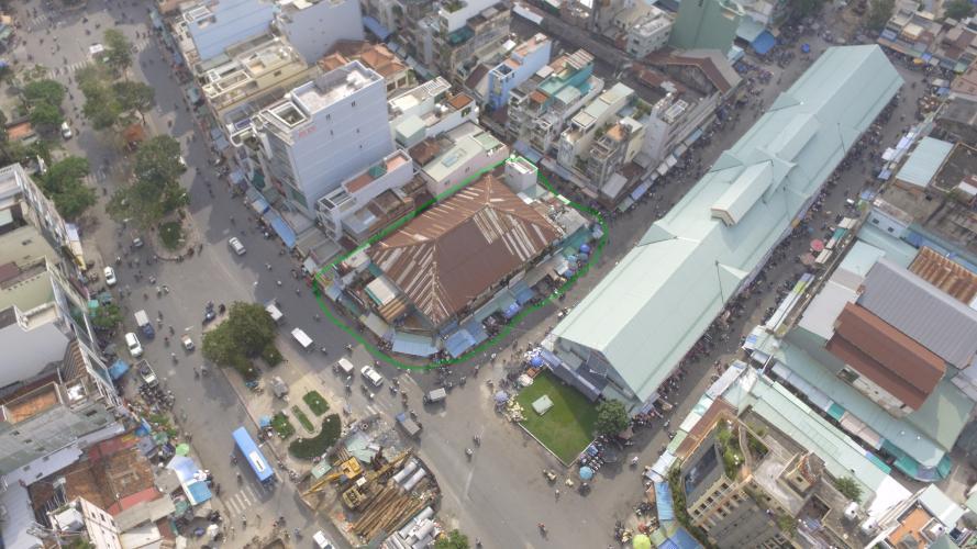 Hình Flycam Nhà phố 3 mặt tiền đường Hải Thượng Lãn Ông Quận 5