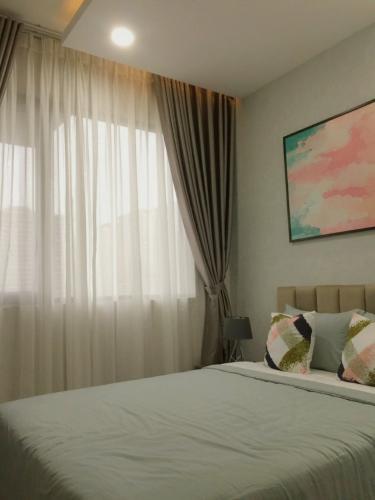 PHÒNG NGỦ 1 căn hộ One Verandah Căn hộ One Verandah đầy đủ nội thất, view thành phố và sông.