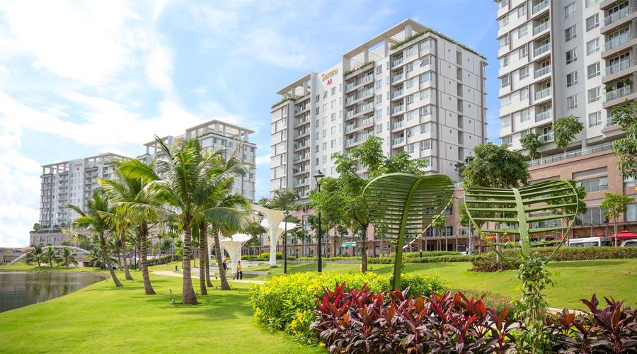 Sarimi Sala Đại Quang Minh, Quận 2 Căn hộ Sarimi Sala Đại Quang Minh tầng trung, nội thất đầy đủ.