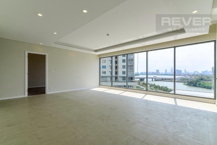 Phòng Khách Bán căn hộ Diamond Island - Đảo Kim Cương tầng thấp 3PN, view sông và Bitexco