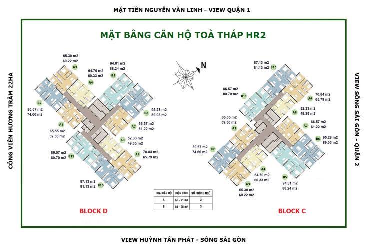 Layout Eco Green Saigon Căn hộ Eco Green Saigon 3 phòng ngủ, nội thất cơ bản.