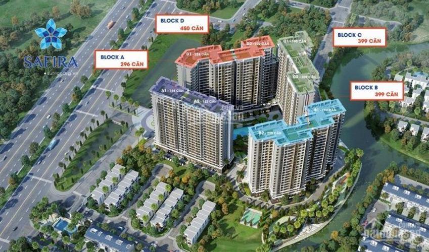 Phối cảnh dự án căn hộ Safira Khang Điền Bán căn hộ Safira Khang Điền 1 phòng ngủ, tầng 17, diện tích 50m2, nội thất cơ bản