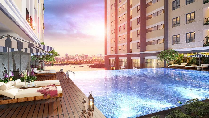 Hồ bơi Saigon Intela, Bình Chánh Căn hộ Saigon Intela tầng trung thoáng mát, đầy đủ nội thất tiện nghi.