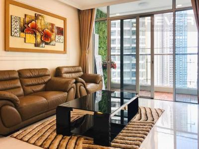 Cho thuê căn hộ Vinhomes Central Park 4PN, tháp Park 6, diện tích 154m2, đầy đủ nội thất, view sông và công viên