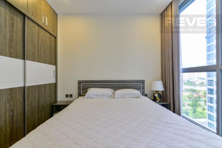 Phòng  Ngủ 1 Cho thuê căn hộ Vinhomes Central Park tầng trung tháp Park 5, 2PN 2WC, đầy đủ nội thất
