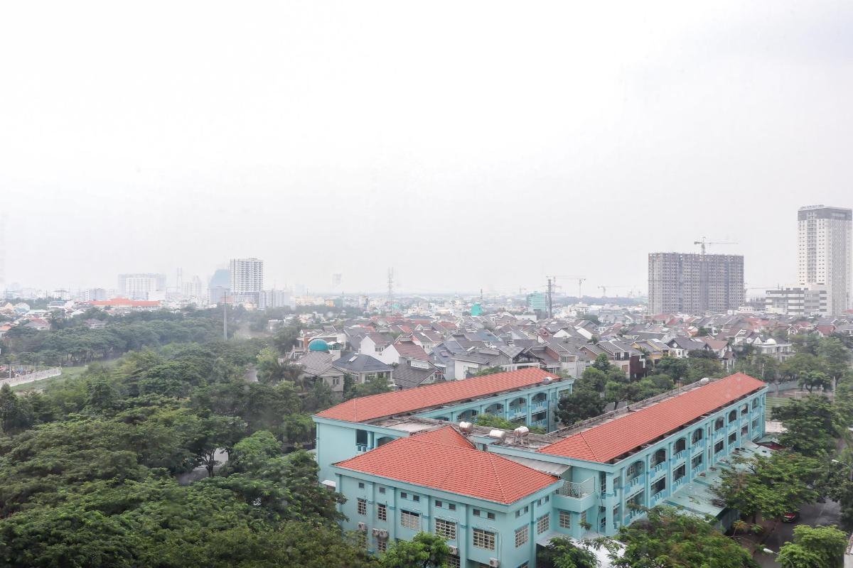 View Phòng Khách Bán căn hộ chung cư Phú Mỹ 3 phòng ngủ, block 2, diện tích 117m2, đầy đủ nội thất, view thoáng