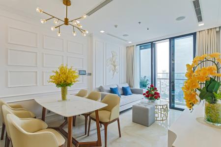 Cho thuê căn hộ Officetel Vinhomes Golden River 2PN tầng cao, đầy đủ nội thất, view Landmark 81