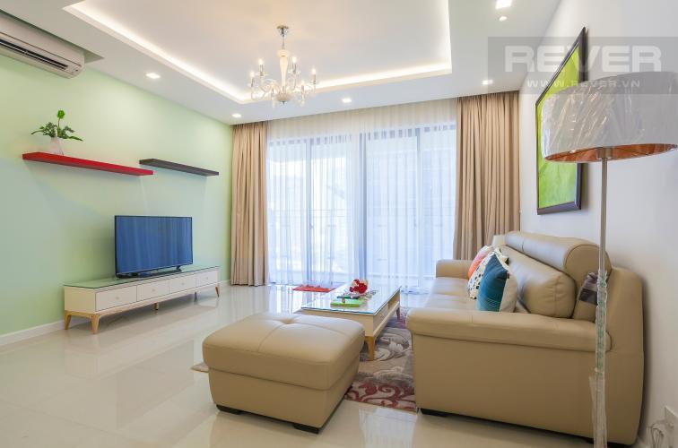 Phòng Khách Căn góc Estella Heights 3 phòng ngủ tầng trung T2 đầy đủ nội thất