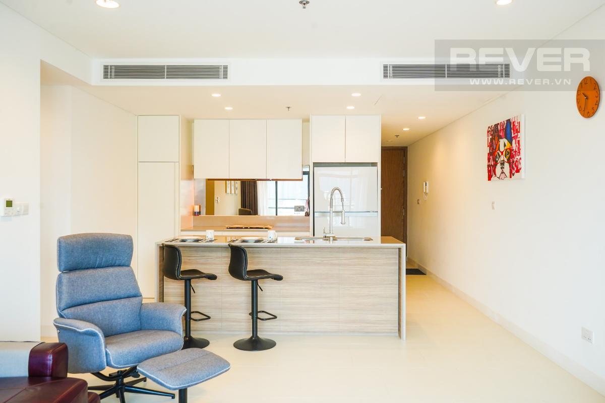 Phòng Bếp Cho thuê căn hộ City Garden 1 phòng ngủ, tháp Promenade 2, đầy đủ nội thất, view trực diện hồ bơi