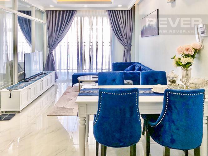 Phòng Khách Cho thuê căn hộ Sunrise Riverside 3PN, tầng trung, diện tích 83m2, đầy đủ nội thất
