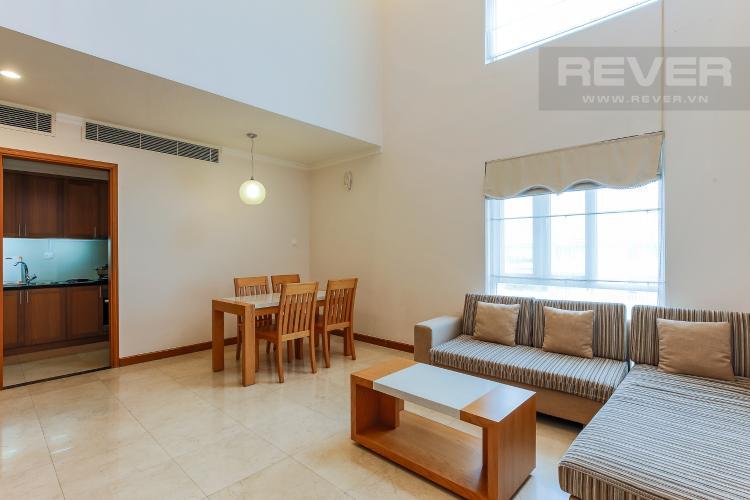 Phòng Khách Duplex 1 phòng ngủ Saigon Pavillon nội thất đầy đủ