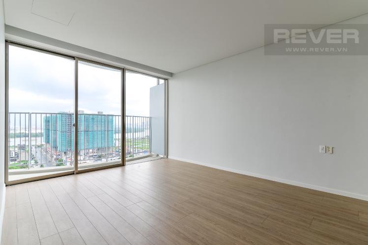 Phòng Ngủ 3 Cho thuê căn hộ Waterina Suites 3PN, tầng trung, nội thất cơ bản, view sông và Landmark 81