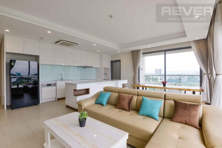 Phòng Khách Bán căn hộ Diamond Island - Đảo Kim Cương 3PN, đầy đủ nội thất, hướng Đông Nam và view sông thoáng mát