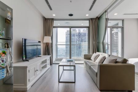Căn hộ Vinhomes Central Park tầng cao P6 đầy đủ nội thất 1 phòng ngủ