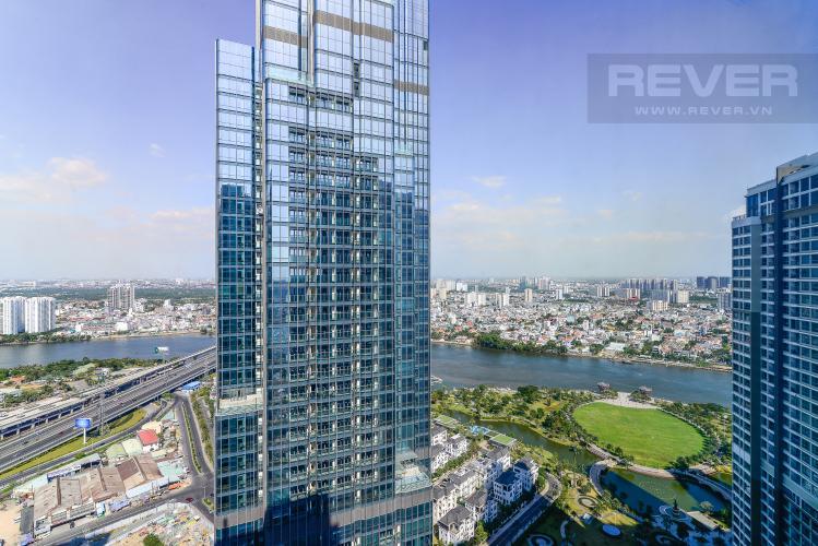 View Phòng Ngủ Cho thuê căn hộ Vinhomes Central Park 3PN và 2WC, nội thất cơ bản, view nội khu