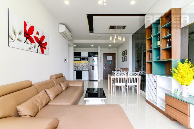 Phòng Khách Cho thuê căn hộ Icon 56 3PN, tầng trung, đầy đủ nội thất, view kênh Bến Nghé