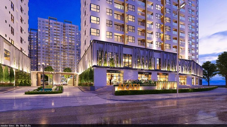 Mặt tiền dự án Akari City Căn hộ Akari City tầng trung, view căn hộ mát mẻ.