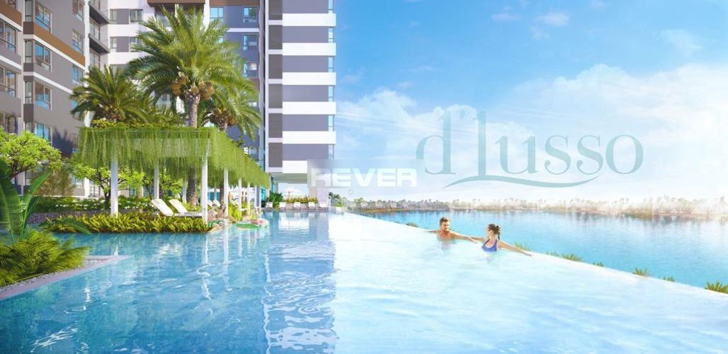 Hồ bơi D'Lusso Quận 2 Căn hộ D'Lusso tầng 8, ban công view sông, nội thất cơ bản.