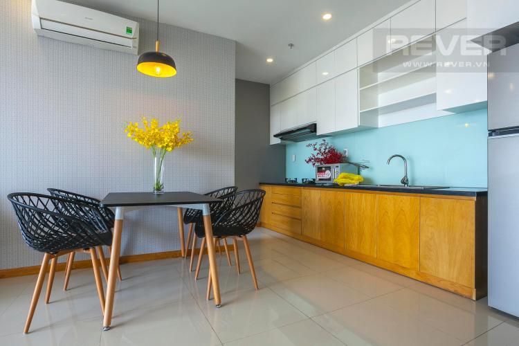 Khu Vực Bếp Căn hộ Tropic Garden 3 phòng ngủ tầng thấp A1 nội thất đầy đủ