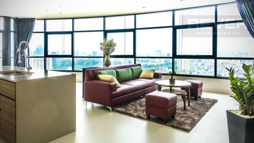 Phòng khách Căn hộ City Garden tầng cao, 3PN đầy đủ nội thất, view đẹp