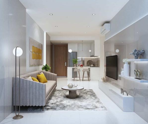 Phòng khách căn hộ Ricca Căn hộ chung cư Ricca tầng cao hướng Đông Nam, nội thất cơ bản.
