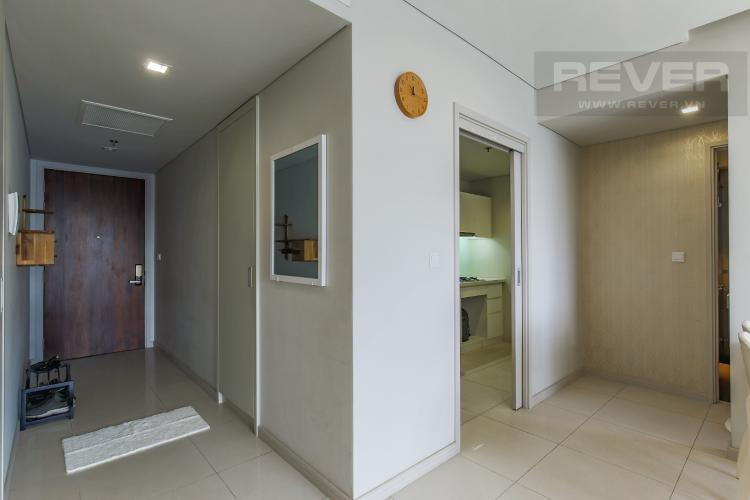 Hành Lang Cho thuê căn hộ City Garden tầng trung 1 phòng ngủ, đầy đủ nội thất, view hồ bơi mát mẻ