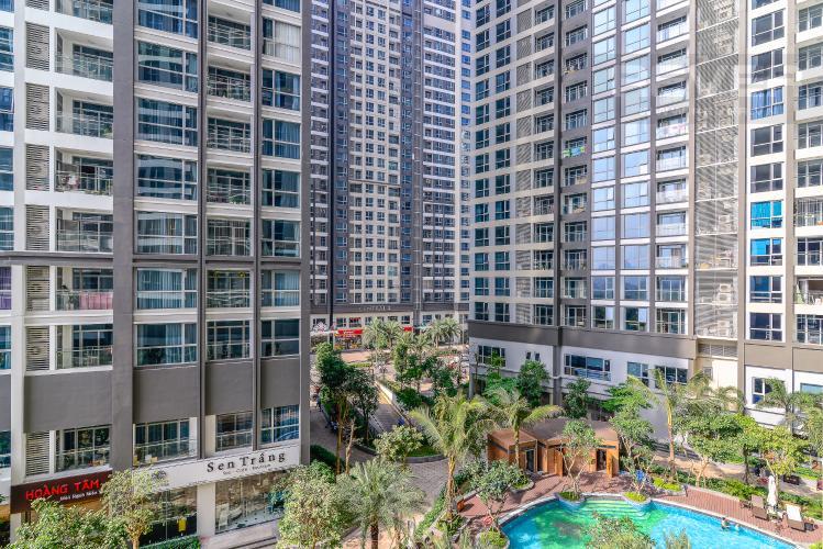 View Căn hộ Vinhomes Central Park tầng thấp, tháp Park 2, 2PN, view hồ bơi
