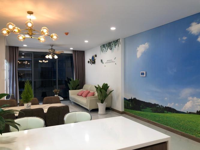 không gian căn hộ  Căn hộ Sunwah Pearl tầng 27 ban công Đông Bắc, nội thất đầy đủ