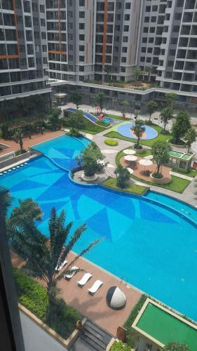Bán căn hộ view nội khu - tầng thấp Safira Khang Điền, 2 phòng ngủ, diện tích 62m2, hướng cửa Đông Nam.