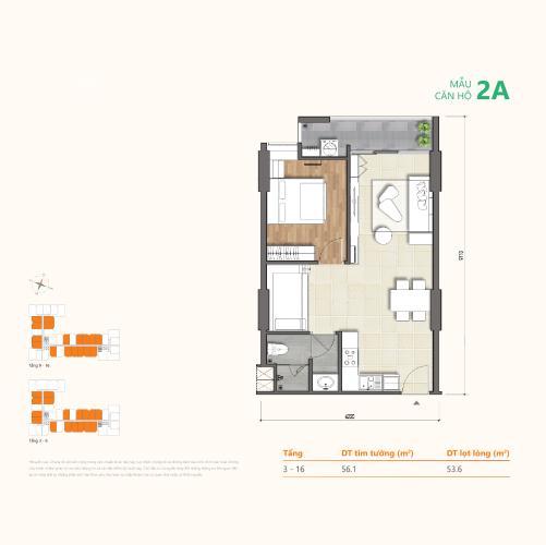 layout căn hộ Ricca Căn hộ Ricca nội thất cơ bản, thiết kế hiện đại, sắp bàn giao.