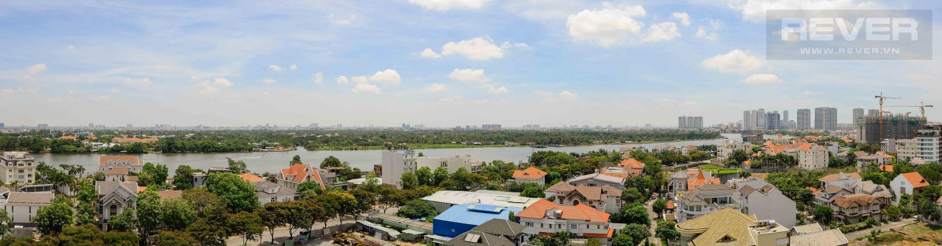 View Cho thuê căn hộ Xi Riverview Palace tầng trung 3 phòng ngủ, đầy đủ nội thất, view sông mát mẻ