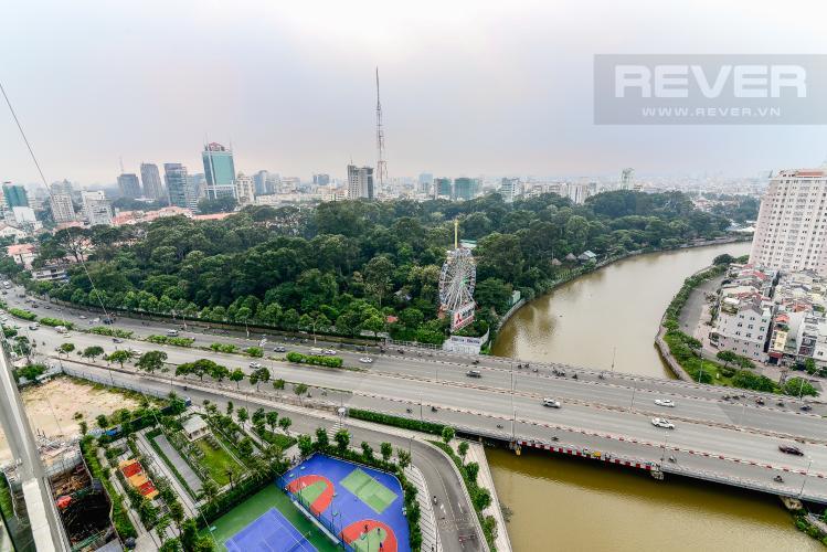 View Phòng Ngủ Cho thuê căn hộ Vinhomes Golden River tầng cao 3PN view sông
