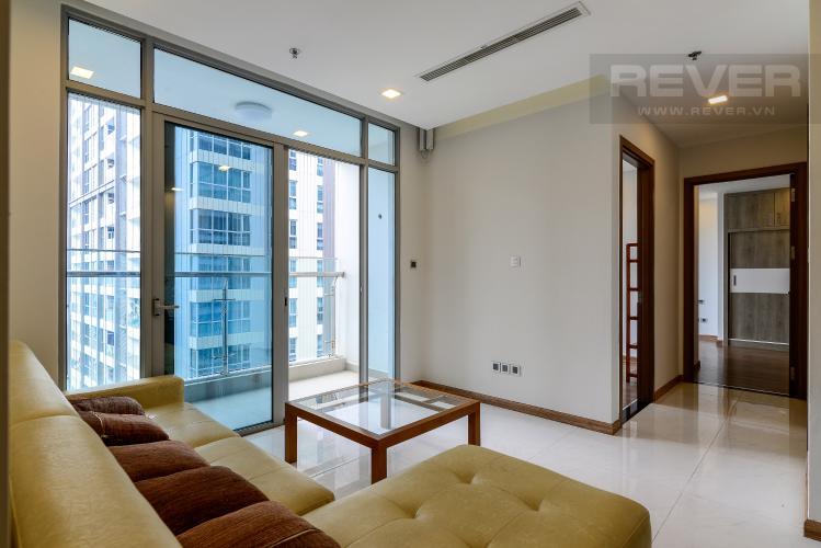 Phòng Khách Cho thuê căn hộ Vinhomes Central Park 2PN tầng cao tháp Park 6, đầy đủ nội thất, view sông mát mẻ