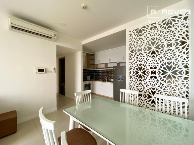 Phòng khách căn hộ ICON 56 Cho thuê căn hộ 3PN Icon 56, tầng 10, diện tích 88m2, đầy đủ nội thất