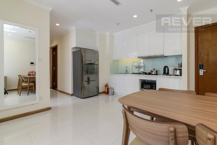 Nhà Bếp Cho thuê căn hộ Vinhomes Central Park 2PN 2WC, nội thất cơ bản, view sông
