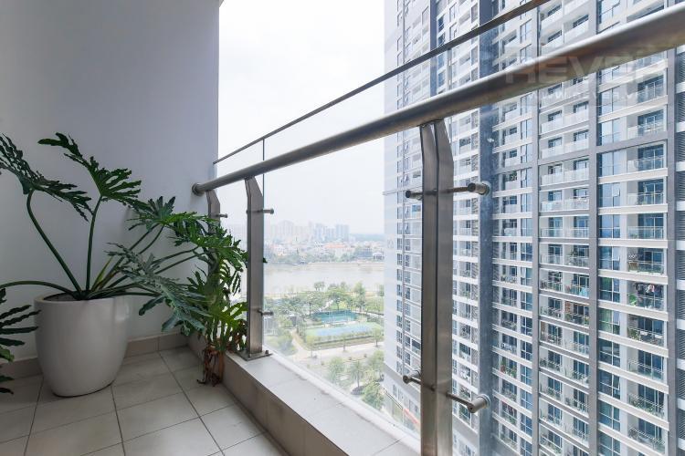 Balcony Phòng Khách Bán căn hộ Vinhomes Central Park tầng trung tháp Park 3, 2PN 2WC, đầy đủ nội thất cao cấp