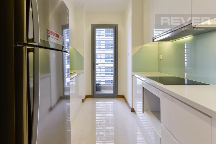 Bếp Căn góc Vinhomes Central Park 2 phòng ngủ tầng trung L3 đầy đủ nội thất