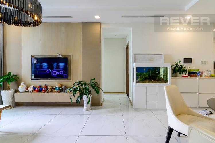 Phòng Khách Bán hoặc cho thuê căn hộ Vinhomes Central Park 3PN, tháp Landmark 81, đầy đủ nội thất, view sông Sài Gòn