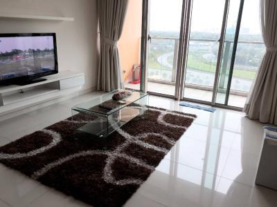 Cho thuê căn hộ The Vista An Phú 2PN, đầy đủ nội thất, ban công hướng Đông Nam nhìn ra Xa lộ Hà Nội