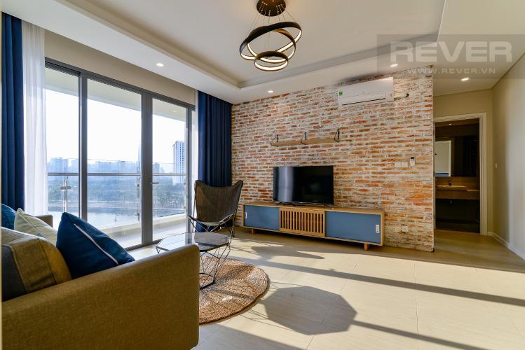 Phòng Khách Cho thuê căn hộ Diamond Island 94,2m2 2PN 2WC, đầy đủ nội thất, view sông