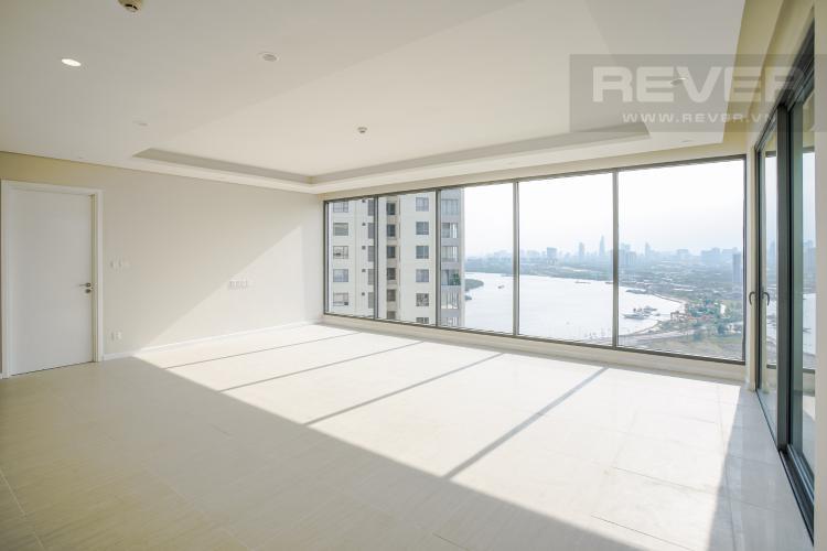 Phòng Khách Bán căn hộ Đảo Kim Cương 2 phòng ngủ tầng cao tháp Bora Bora, view Bitexco và sông Sài Gòn